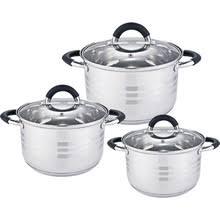 <b>Набор посуды 6 предметов</b>: 3 кастрюли Webber BE-623/6 со ...