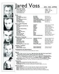 Musical Theater Resume Template Enchanting Theatre Resume Template Theatre Resume Templates Resume Tali Sample