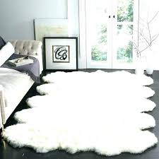 faux fur rug white architecture com faux silky sheepskin faux fur white rug white faux
