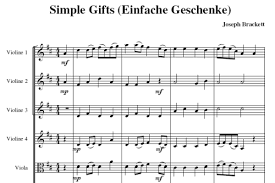 brackett joseph simple gifts arr violin 4 vla2
