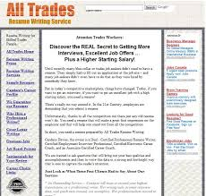 review of all trades resume writing com best resume writing service all trades resume writing com review