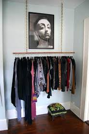hang up clothes without a clo ideas