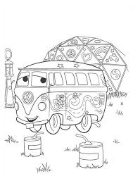 Small Picture Cars Fillmore from Disney Cars Coloring Page Fillmore From