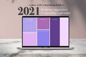 Lila Desktop Wallpaper Organizer mit ...