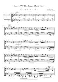dance of the sugar plum fairy sheet music download dance of the sugar plum fairy clarinet bass clarinet