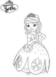 Coloriage A Imprimer Princesse Sofia Dans Sa Robe De Bal Gratuit