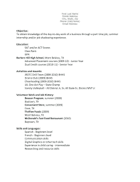 Template For Writing A Resumes Resume Job For A First Unusual Ideas Examples Teen Samples Example