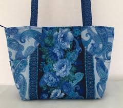 Quilted Purses | Embroidered Bags Made in the USA - Order Lindsay Bags & Blue Paisley Lindsay Adamdwight.com