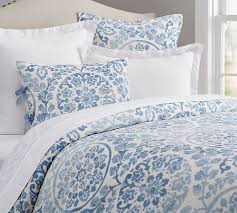 ana medallion duvet cover full queen blue