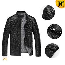 Men's Embroidery Quilted Leather Jacket CW821001 | CWMALLS & Men Quilted Leather Jacket cw821001 www.cwmalls.com Adamdwight.com