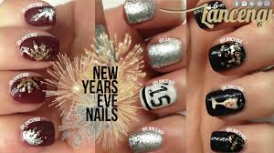 New Years Nail Polish Designs Diy Cute Easy New Years Eve Nail Art Use Glitter On Your Nails Perfectly For Nye