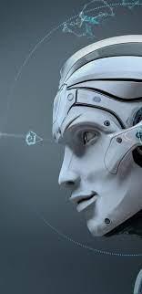 Robot Skull 3D Desktop HD Wallpaper
