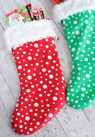 Christmas Stocking Sewing Pattern Magnificent Easy Christmas Stocking Pattern Crazy Little Projects