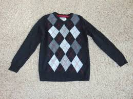 Details About Nwt 44 Boys Urban Pipeline Black Argyle Long Sleeve V Neck Sweater Size M 10 12