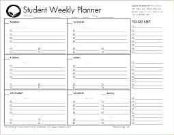 Homework Agenda Printable Hourly Weekly Planner Template Metabots Co
