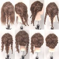 編み込み ヘアアレンジ セミロング 夏aube Hair Elle 村上 泰正 185836