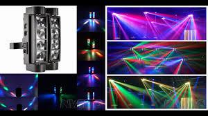 Mini Spider Moving Head Light Dj Party Bar 8x3w Rgbw Dmx Mini Led Beam Spider Moving Head Light