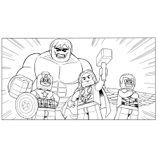 Hulk Captain America Thor En Hawkeye Coloring Pages For Kids