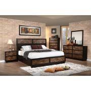 rustic king bedroom set. minnora 4 piece rustic eastern king bedroom set in walnut