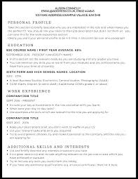 Hobby And Interest In Resume Resume Skills And Interest Interests A Cv Example Interest Resume