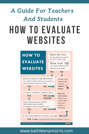 How To Evaluate Websites A Guide For Teachers And Students