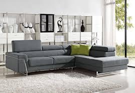 Divani Casa Darby Modern Fabric Sectional Sofa Set