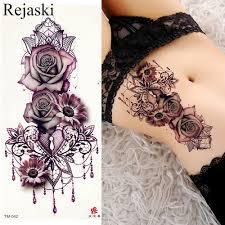 фиолетовый роза ювелирные изделия переноса воды татуировки наклейки женщины