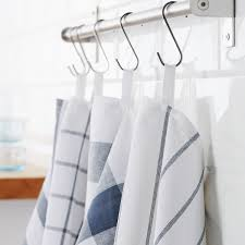 ELLY Dish towel - <b>white</b>, <b>blue</b> - IKEA