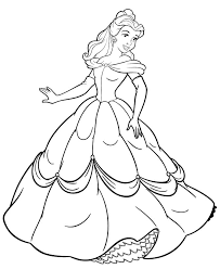 Small Picture Princess Belle Coloring Pages Ausmalbilder Pinterest