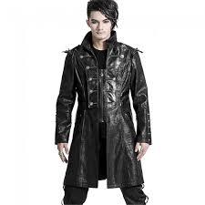 gothic herren mantel von punk rave mit spikes