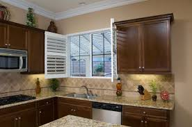 Shutters For Kitchen Cabinets Danmer Los Angeles Custom Shutters Window Treatments