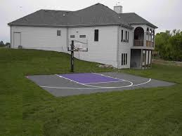 Pickleball Court Cost To Build Outdoor For Backyard Sport Court Backyard Tennis Court Cost