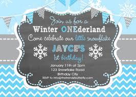 Snowflake Birthday Invitations Boys 1st Birthday Snowflake Winter Wonderland Invitation