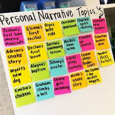Topic Chart For Writing 15 Personal Narrative Mini Lessons True Life Im A Teacher