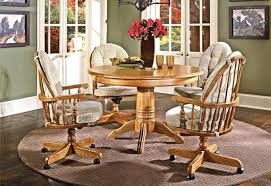 dining chairs casters chair wheels wicker room with