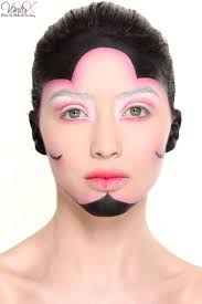 creative look by one of our students from our advanced makeup course advancedmakeup