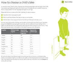 Child Bike Size Chart Childrens Bike Size Guide