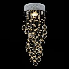 21 6 high modern spiral crystal globes chandelier light with stainless steel canopy