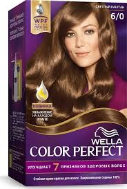 <b>Wella Крем</b>-<b>краска</b> Color Perfect <b>стойкая</b>, 6/0 светлый каштан ...