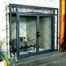 wood burning fireplace glass doors stove