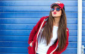 Wallpaper girl, pose, hair, glasses ...