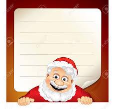 Blank Christmas List Vector Illustration Of Cartoon Santa Claus And Blank Wish List