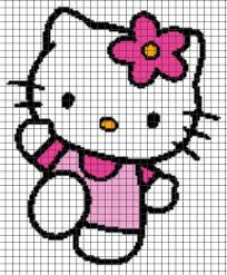 Hello Kitty Crochet Graphghan Pattern Chart Graph And Row