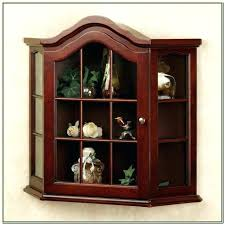 small curio cabinet with glass doors wall corner cabinets