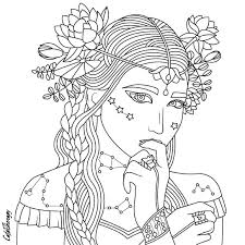Small Picture 788 best Beautiful Women Coloring Pages for Adults images on