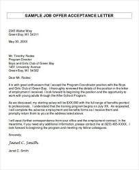 Employment Acceptance Letter 14 Job Acceptance Letters