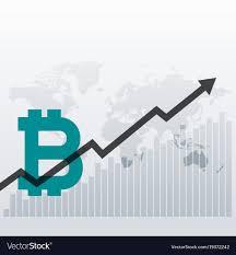 Growth Chart Design Bitcoin Upward Growth Chart Design Background