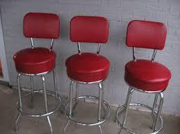 red bar stools. Three 3 Vintage Retro 1950s 1960s Red Bar Stools By TreasureHut