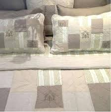 queen bed quilt set country linen colour taupe ivory cream patchwork bedspread queen bed quilt cover