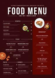 Food Menu Design Ideas Modern Food Menu Restaurant Menu Design Menu Restaurant